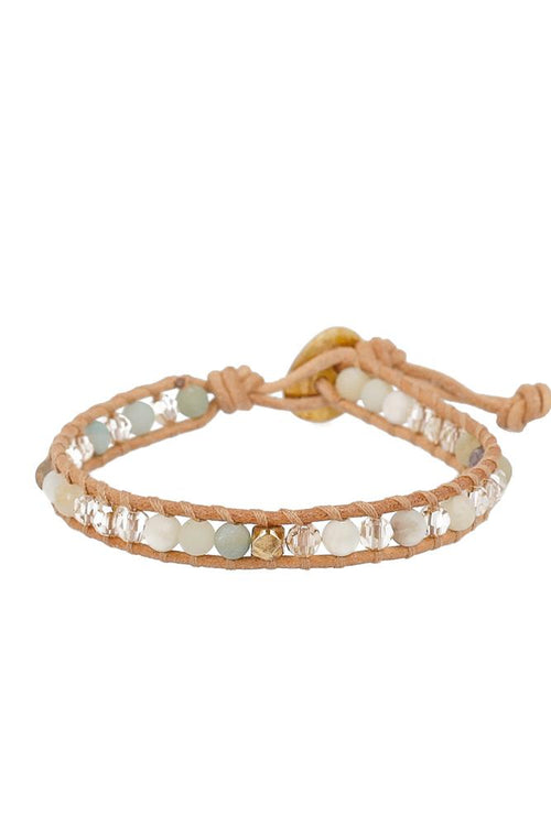 Multi Amazonite Mix Single Wrap Bracelet