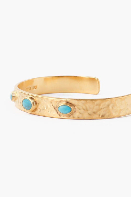 Turquoise Hammered Cuff