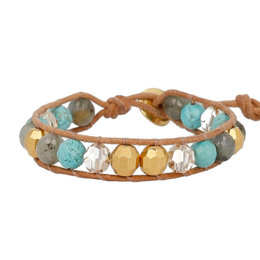 Turquoise Mix Single Wrap Bracelet