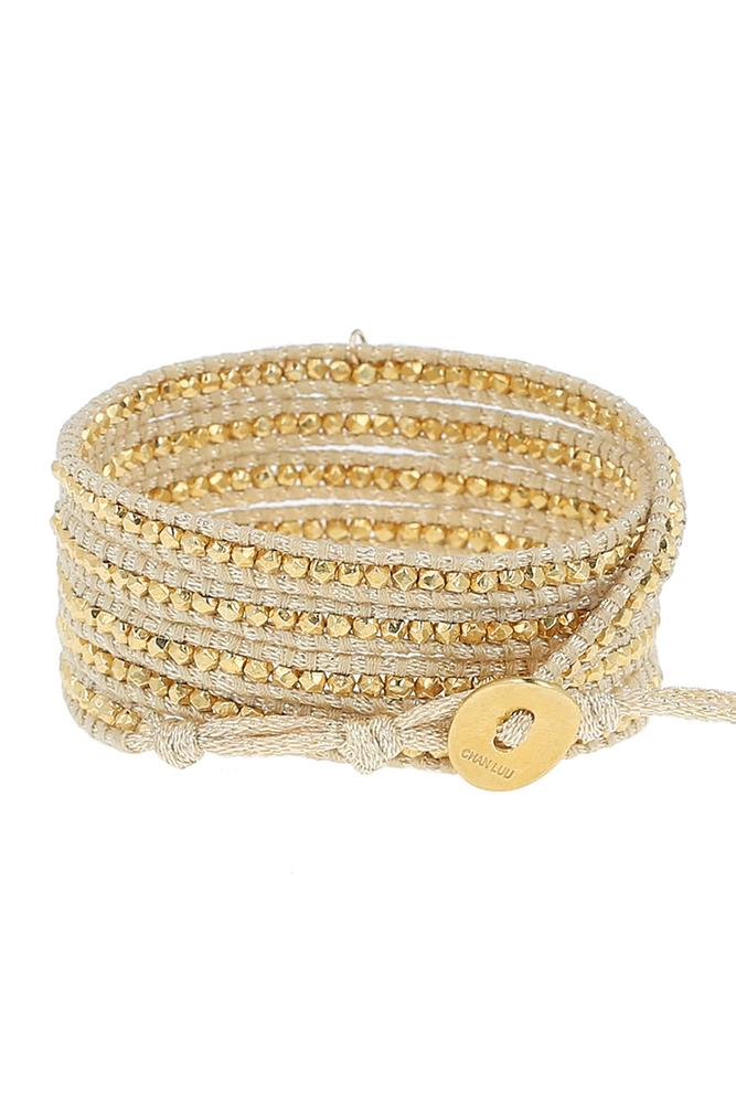 Citrine Five Wrap Bracelet