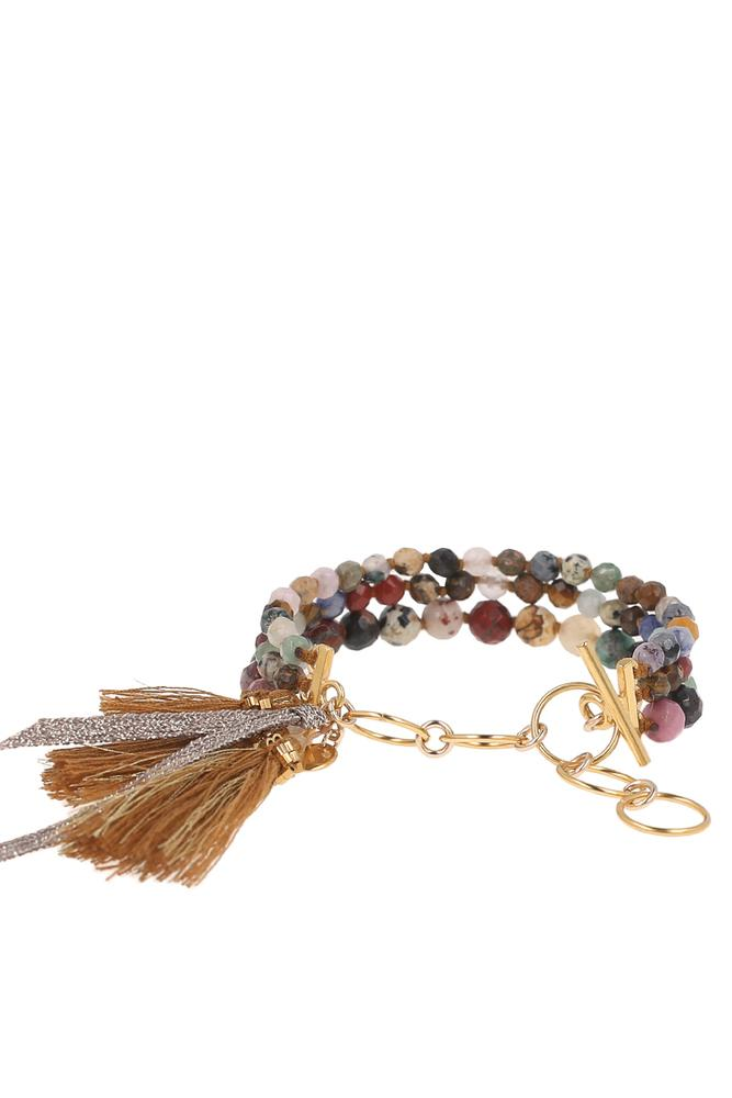 Multi Strand and Tassel Bracelet