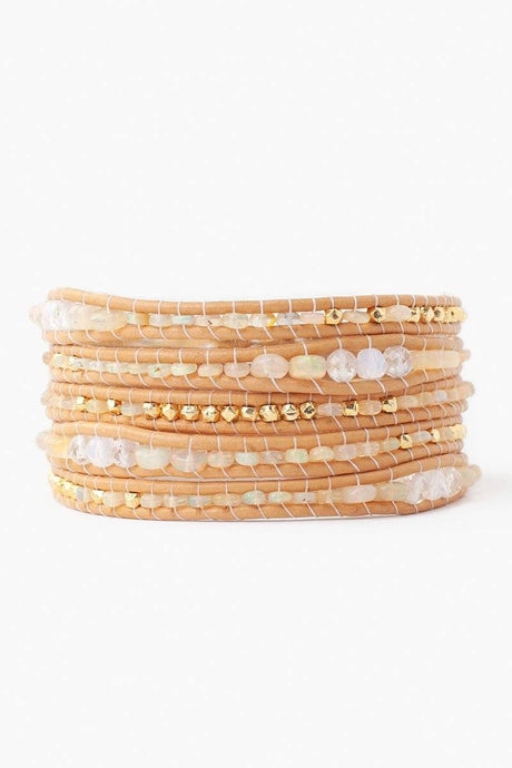Ethiopian Opal Mystic Clear Mix Five Wrap Bracelet