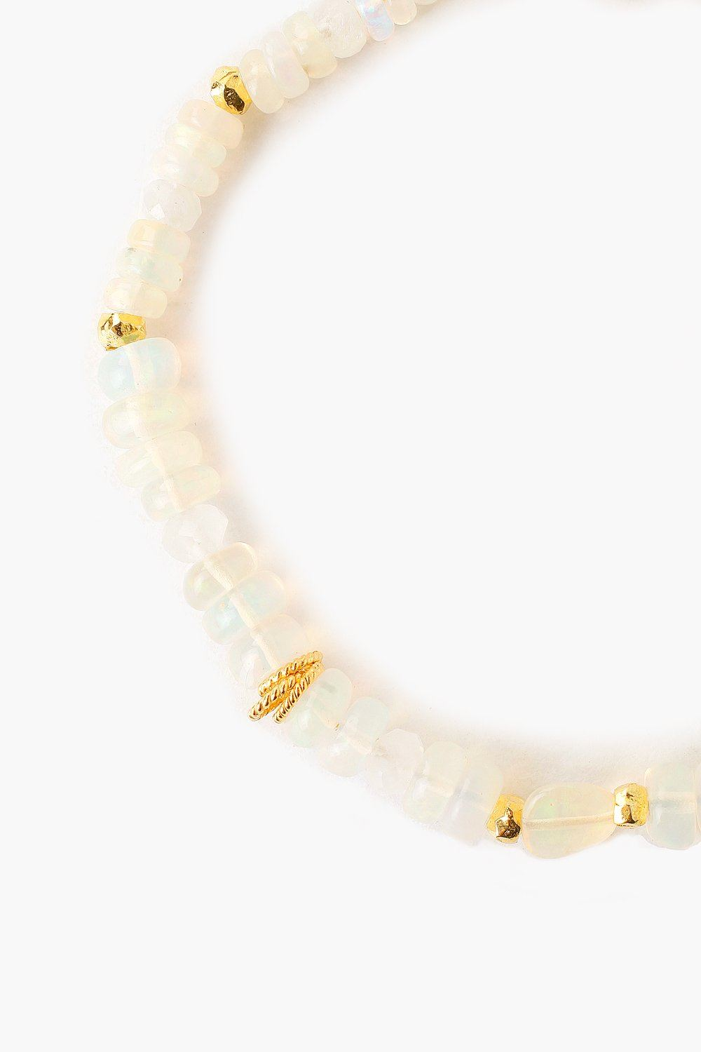 Ethiopian Opal and Moonstone Adjustable Bracelet