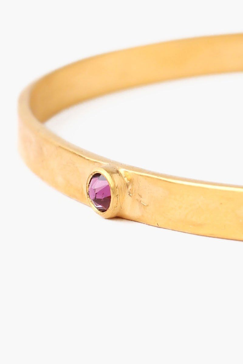 February Amethyst Birthstone Cuff