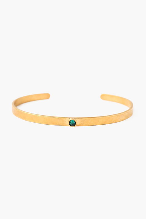 May Emerald Birthstone Cuff