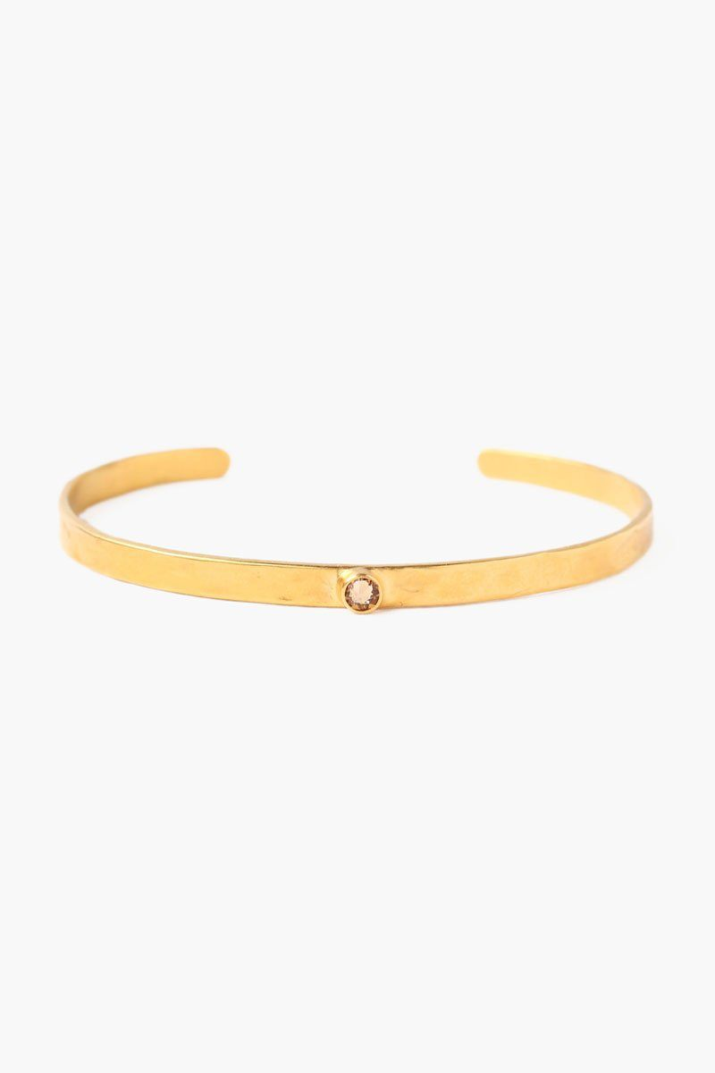 November Light Colorado Topaz Birthstone Cuff (Pre-Order)