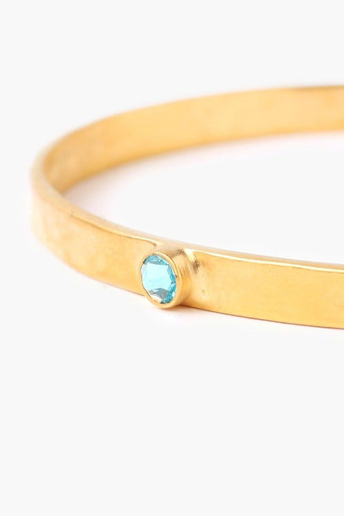 December Light Turquoise Birthstone Cuff