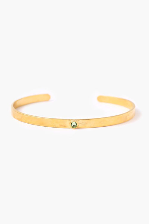 August Peridot Birthstone Cuff