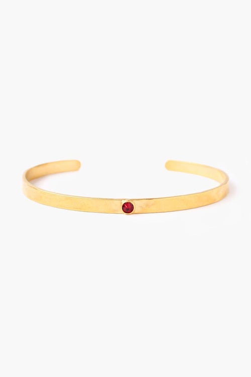 January Siam Birthstone Cuff