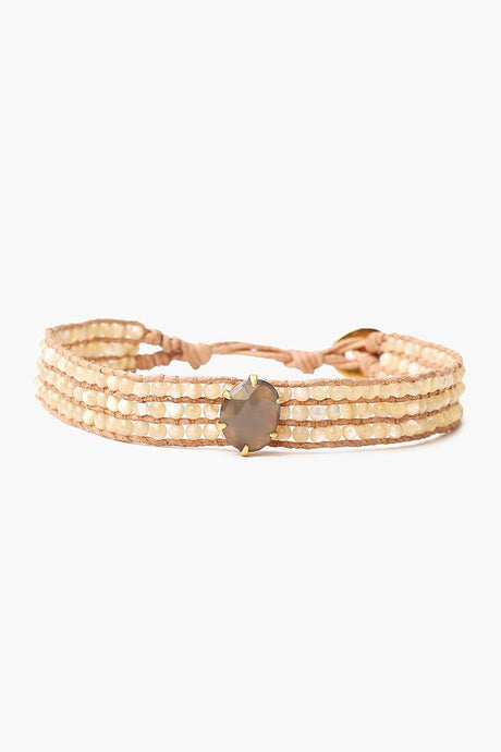 Natural Mix Stones Single Wrap Bracelet