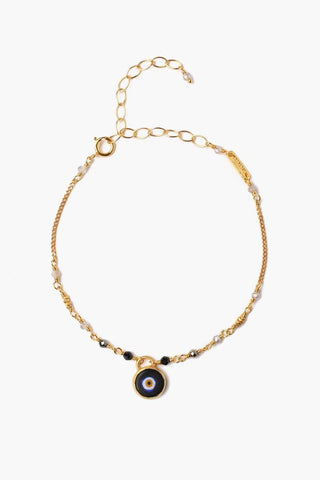 Turquoise Evil Eye Necklace With Champagne Diamond