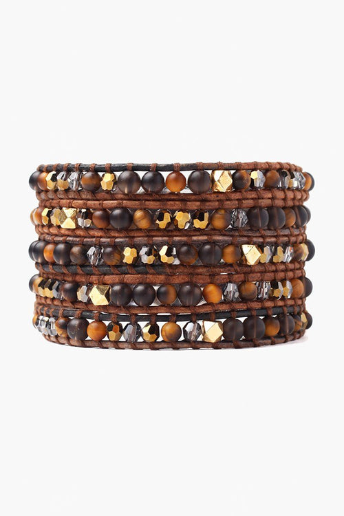 Tiger's Eye Mix Five Wrap Bracelet