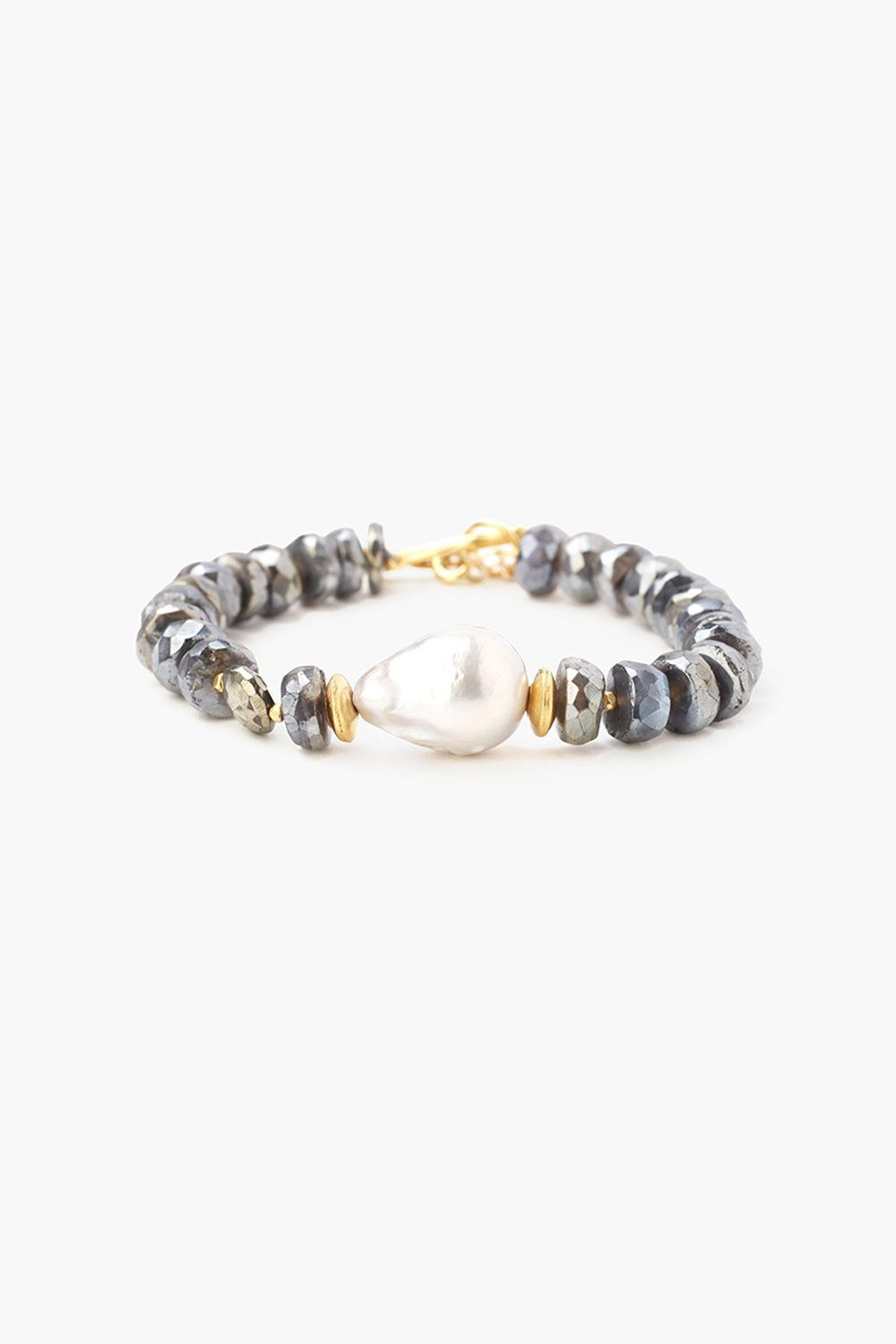 Mystic Labradorite Mix Toggle Bracelet