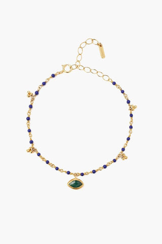 Blue Nano Evil Eye Necklace