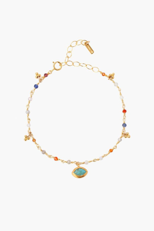 Multi Mix Evil Eye Charm Bracelet