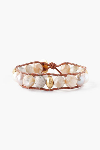 Natural Mix Pearl Single Wrap Bracelet