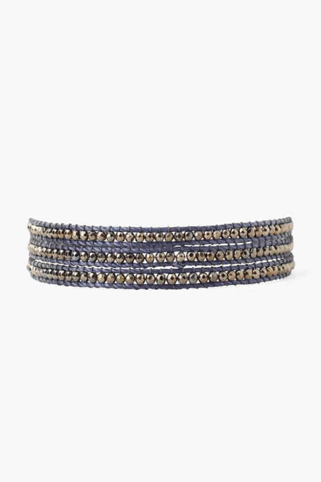 Indigo Three Wrap Bracelet