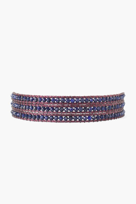Lapis Three Wrap Bracelet