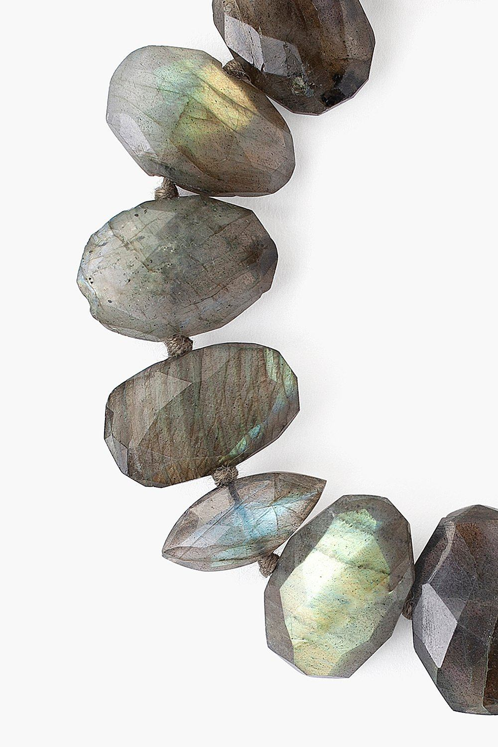 Labradorite Faceted Oval Bracelet