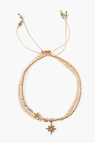 Gold Mix Astral Pull-Tie Bracelet Set