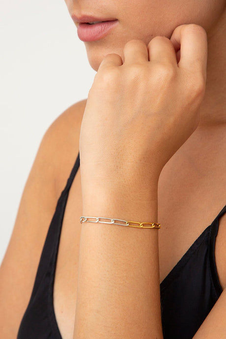 Yellow Gold Box Chain Bracelet