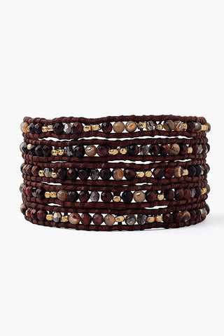 Red Tiger's Eye Mix Wrap Bracelet