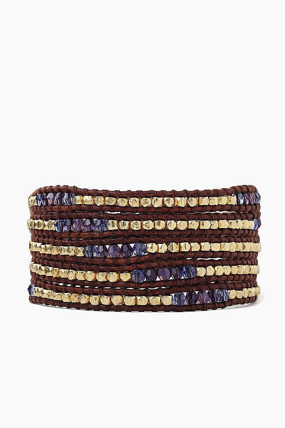 Purple Mix Wrap Bracelet