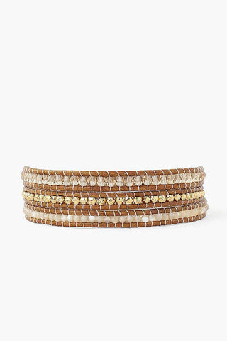 Natural Mix Three Wrap Bracelet