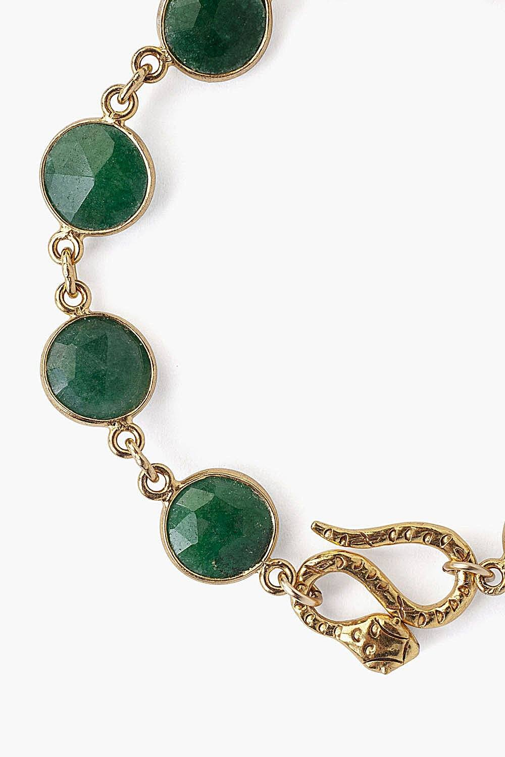 Snake and Indian Aventurine Bracelet