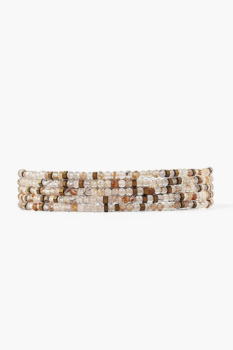 Rutilated Quartz Mix Naked Wrap Bracelet