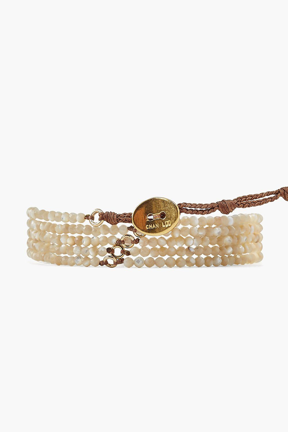 Mother of Pearl Naked Wrap Bracelet