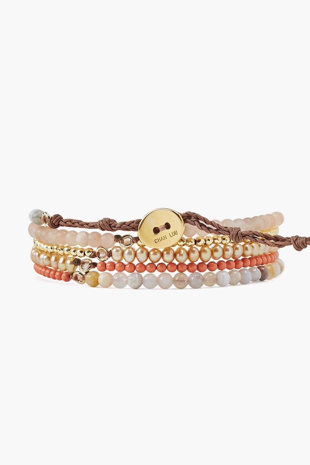 Sunstone Mix Naked Wrap Bracelet