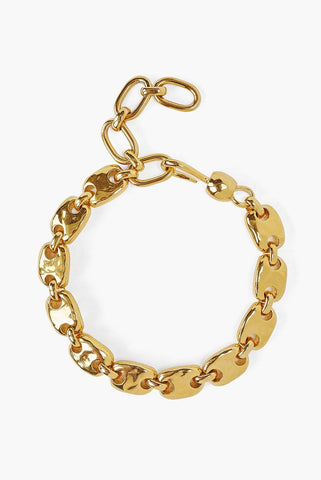 Gold Puff Chain Bracelet