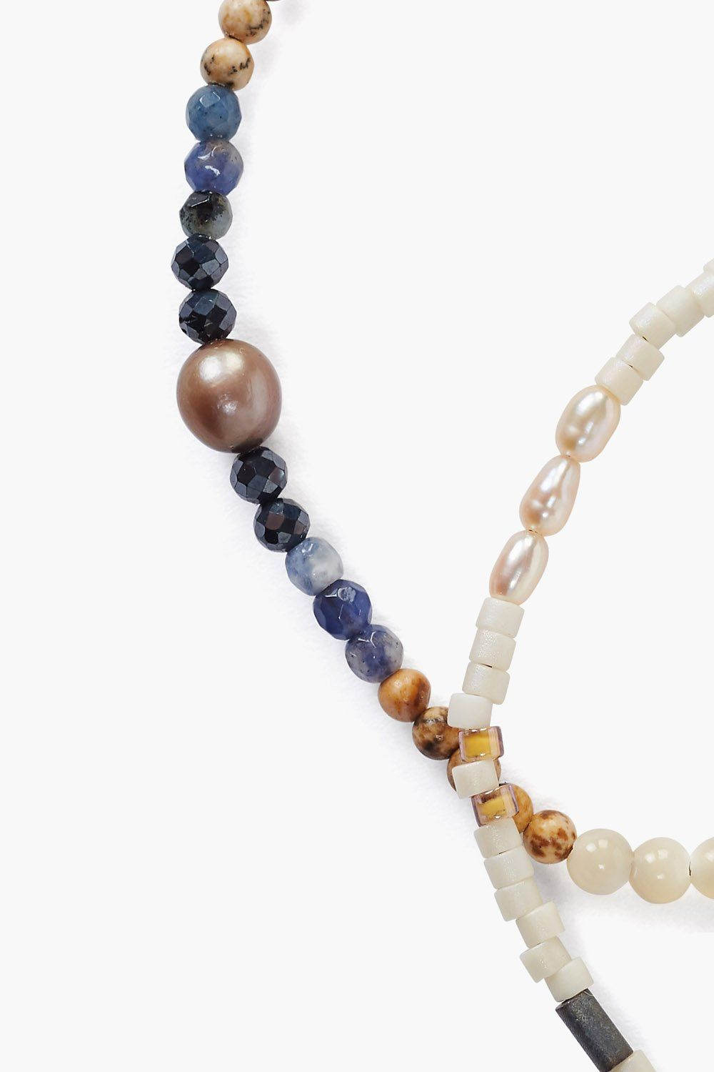 Natural Mix Pearl Pull-Tie Bracelet Set