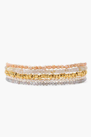 Champagne Mix Naked Wrap Bracelet