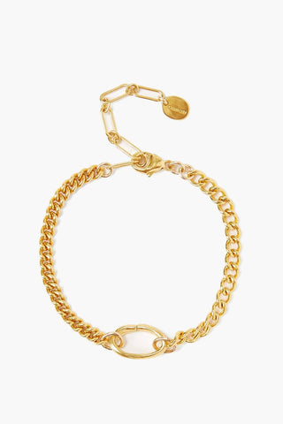 Sculptural Ring Gold Chain Link Bracelet
