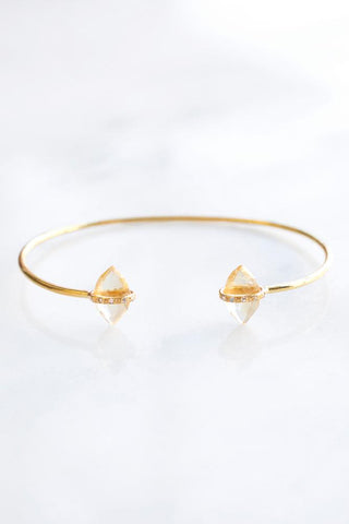 Citrine Delicate Diamond Cuff