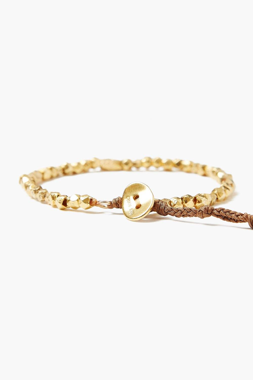Etched Gold Pebble Bracelet