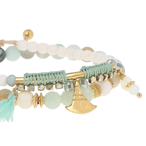 Matte Multi Amazonite Bracelet Set