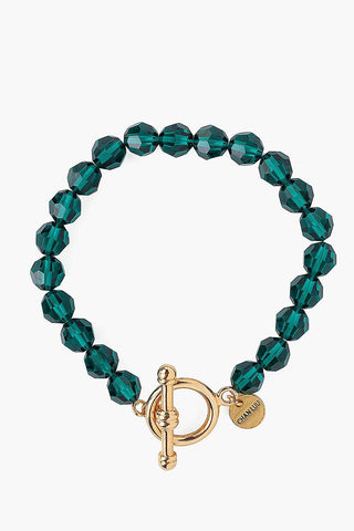Emerald Crystal Toggle Bracelet