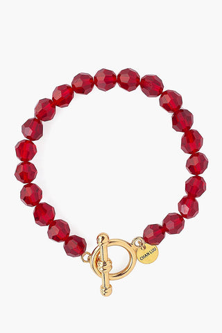Siam Crystal Toggle Bracelet