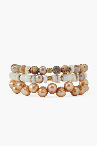 Natural Mix Bracelet Set