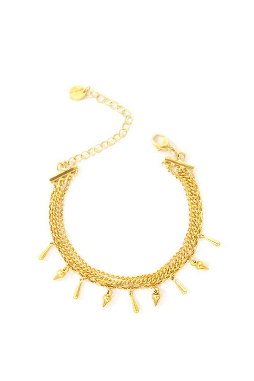 Gold Chain and Charm Bracelet