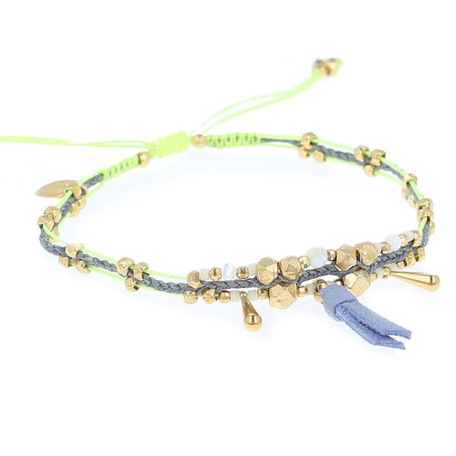 Green Mix Pull-Tie Bracelet