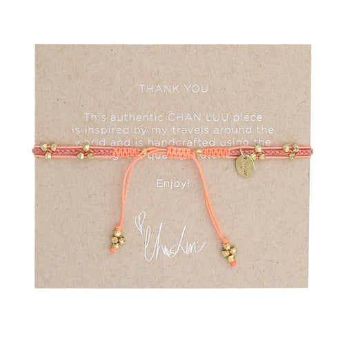 Orange Mix Pull-Tie Bracelet
