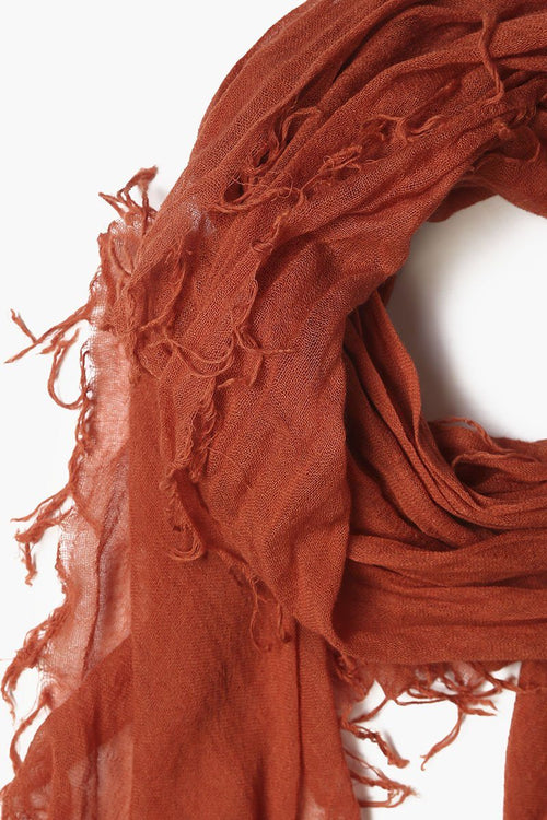 Auburn Cashmere and Silk Scarf