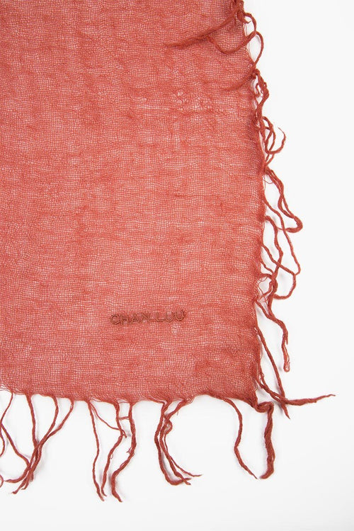 Barn Red Cashmere and Silk Scarf