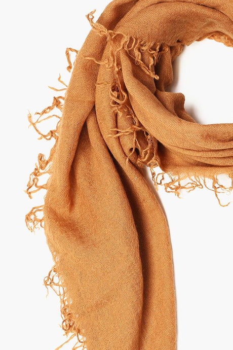 Brown Sugar Cashmere and Silk Scarf