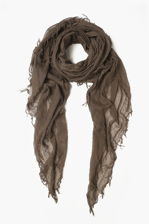 Chocolate Chip Cashmere and Silk Scarf