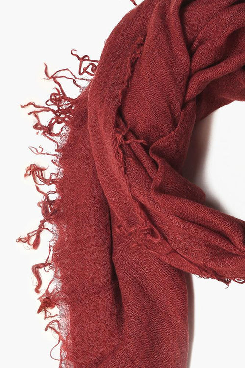 Henna Cashmere and Silk Scarf